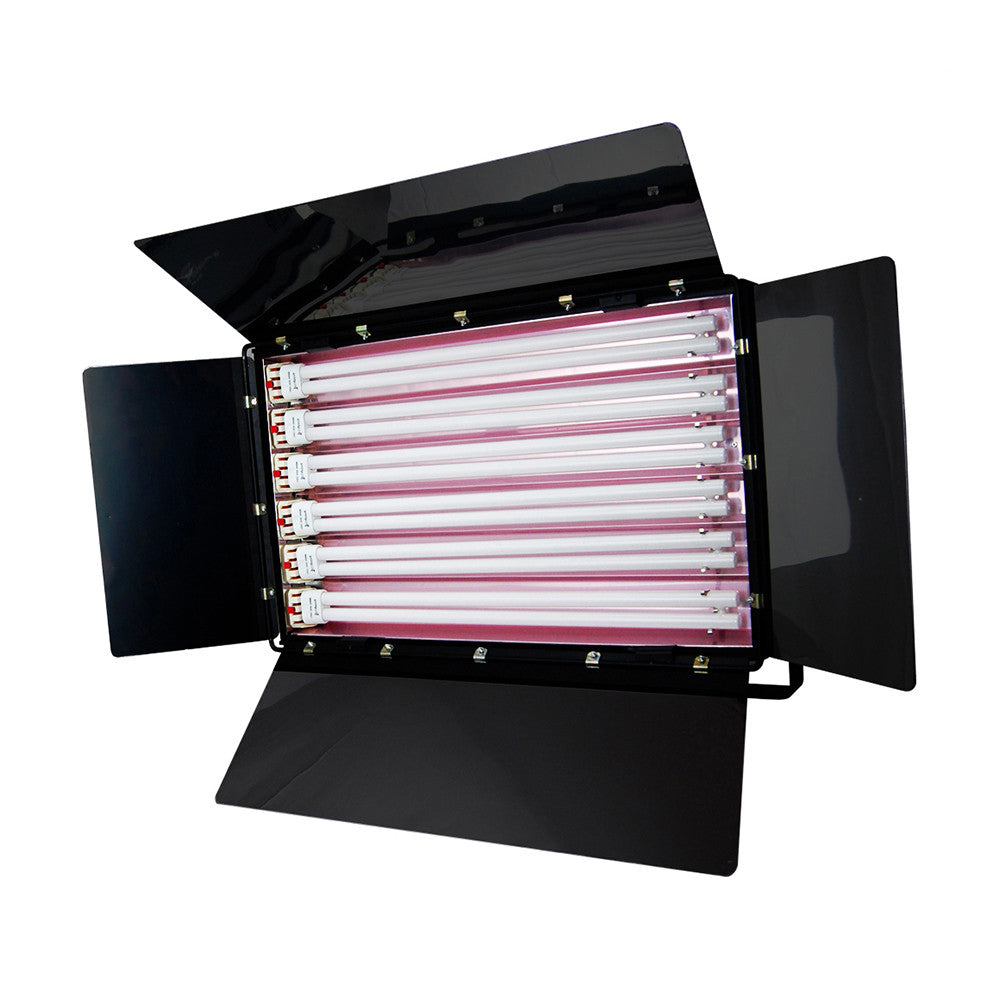 1650W Fluorescent Continuous Cool Light 6-Bank Photography Video Lighting Kit with Barndoor by Loadstone Studio