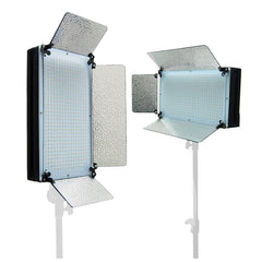 2x 500 LED Continuous Dimmable Lighting Panel Kit Daylight Balanced Ultra Bright Light with Barndoor