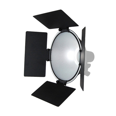 "4 Leaf Barndoor for Continuous Photography Videography Lighting - Fits 10"" Wide Light Reflectors by Loadstone Studio"