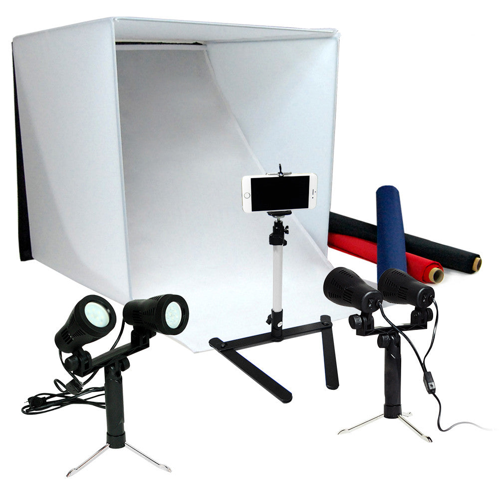 300W LED Tabletop Photo Light Tent Kit 5500K Daylight Balanced Continuous Lighting with 24  Shooting  sc 1 st  Loadstone Studio & 300W LED Tabletop Photo Light Tent Kit 5500K Daylight Balanced ...