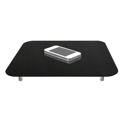 "12""x12"" Acrylic Tabletop Reflective Display Mat in Combo Black & White for Product Photography"