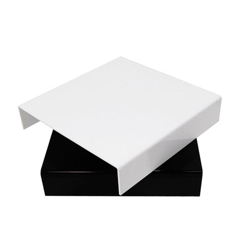 "10"" x 10"" Black White Acrylic Reflective Photographic Display Shooting Table for Product Jewelry Photography"