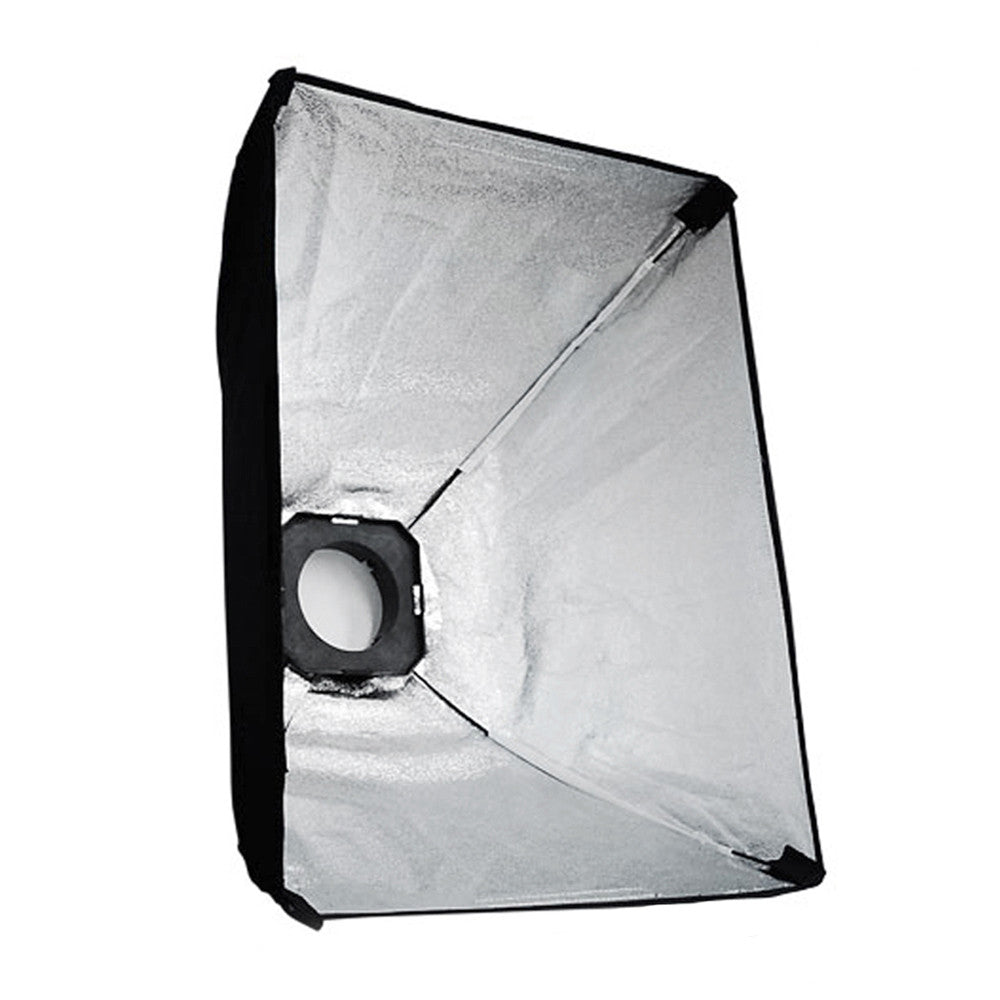 "24""x36"" Universal Light Diffusion Softbox for Flash and Continuous Lighting Silver Interior"