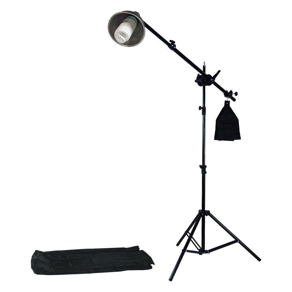 Reflector Boom Arm Extension Kit with Light Stand and 85W CFL Bulb for Photography and Video Lighting by Loadstone Studio