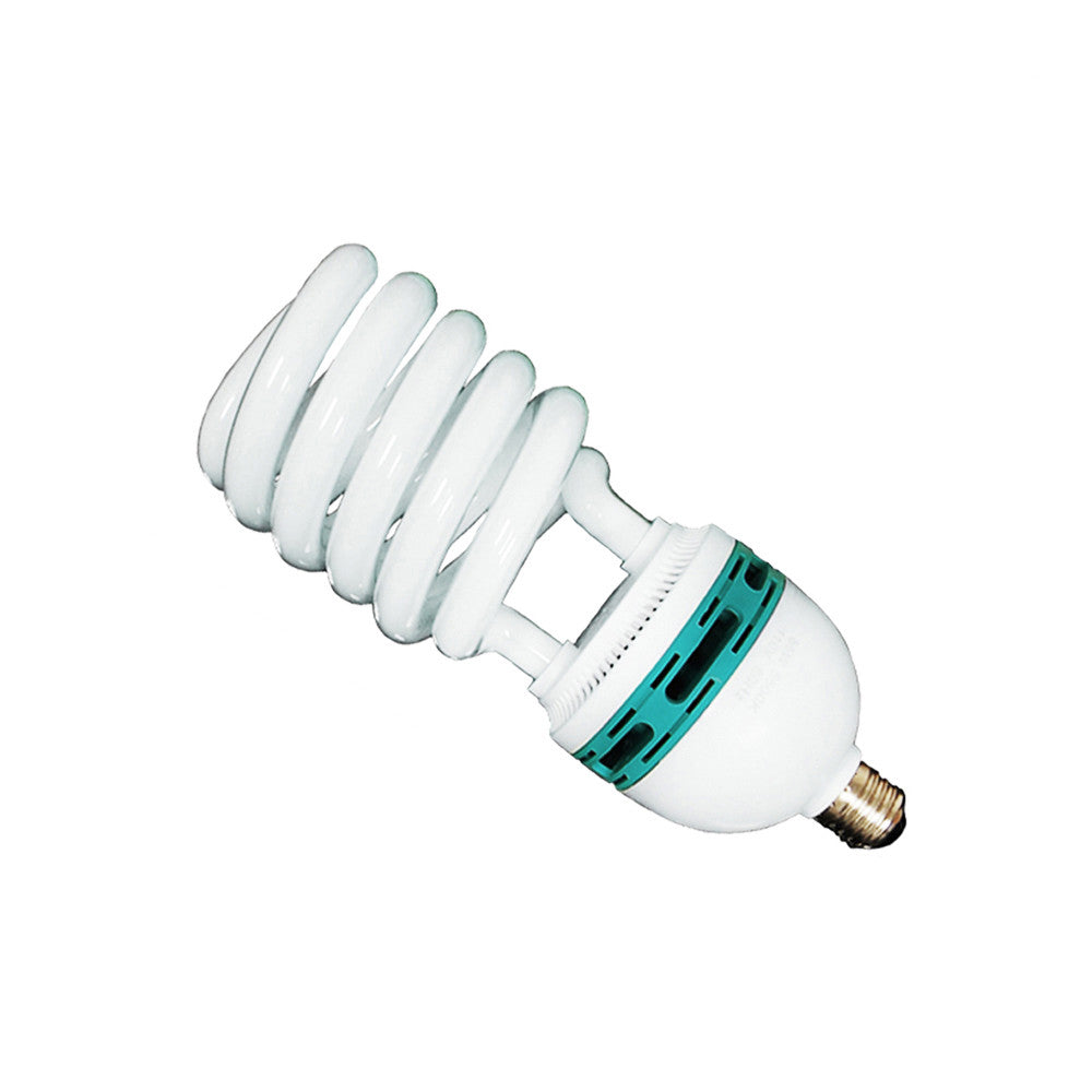 45W CFL Fluorescent Spiral Light Bulb Pure White 6500K Daylight Color Balanced for Photo Video Lighting by Loadstone Studio