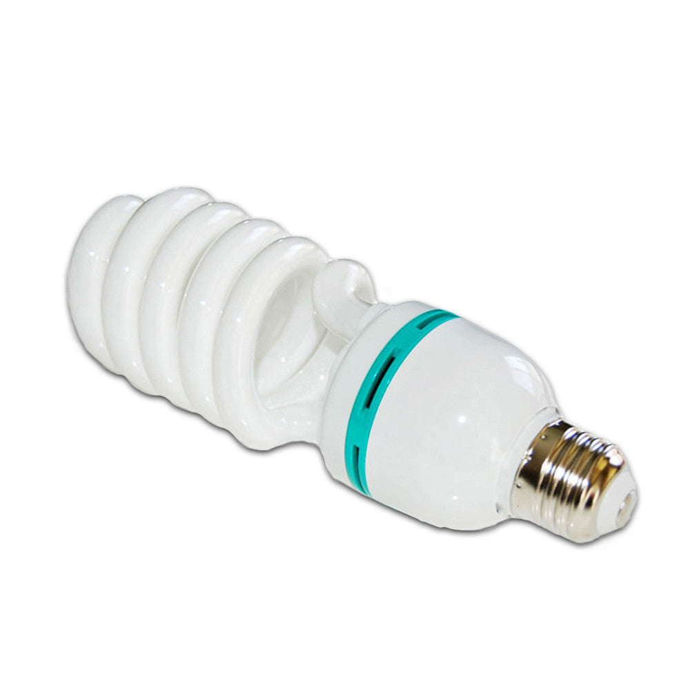 85W CFL Fluorescent Spiral Light Bulb Pure White 6500K Daylight Color Balanced for Photo Video Lighting by Loadstone Studio