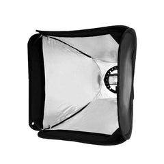 "24""x24"" Portable Portrait Softbox with Flash Mount Ring, Diffuser, and Carrying Bag for Photography Lighting"