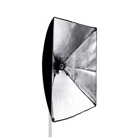 "20""x28"" Silver Interior Softbox Diffuser with Power Cord and Single Bulb Socket Convenient Folding Design"