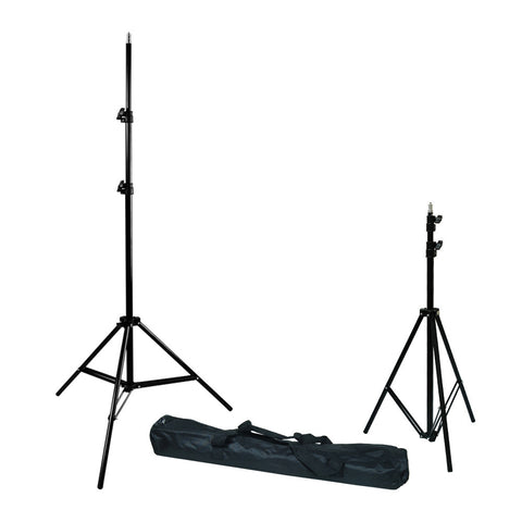 "2x 86"" Dual Adjustable Height Light Stand for Photography and Video Lighting Equipment with Travel Bag"