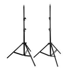 "Set of Two 87"" Adjustable Height Heavy Duty Light Equipment Stands with Tripod Legs for Photo Lighting"