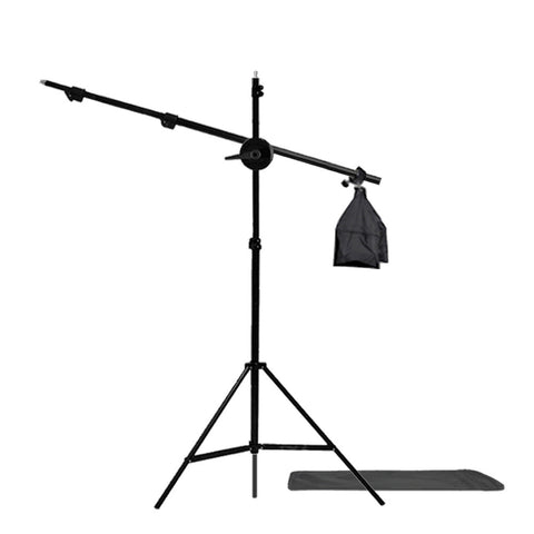"55"" Boom Arm Extension with 87"" Photo Lighting Stand, Counter Balance Weight Sandbag and Travel Case"
