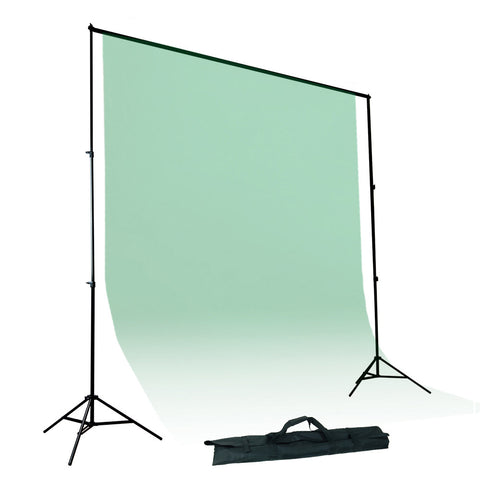 Photography Background Support System Kit with Background Stands, Four Adjustable Cross Bars and Carry Bag by Loadstone Studio