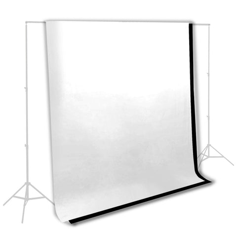 Combo Set 6' x 9' Background Backdrop Muslin Kit with 1x White and 1x Black for Photo Video Lighting by Loadstone Studio