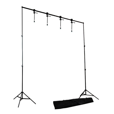 10' x 8.5' Background Support System Stand Kit with 4 Piece Backdrop Holders for Photography Lighting by Loadstone Studio
