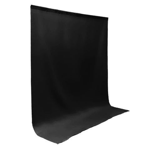 10x12' ft. Jet Black Pure Top Quality Seamless Muslin Backdrop for Photography and Video Lighting Set by Loadstone Studio