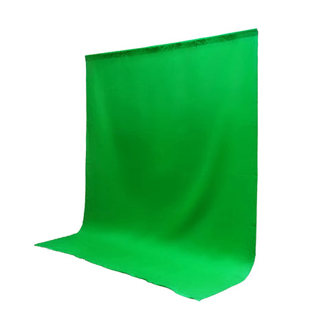 10 x 10' ft. Chroma Key Green Screen Seamless Muslin Fabric Cloth Backdrop for Photography and Video by Loadstone Studio