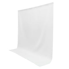 6x9' ft. White 100% Seamless Muslin Backdrop Machine Washable Background for Photo Video Lighting Set by Loadstone Studio