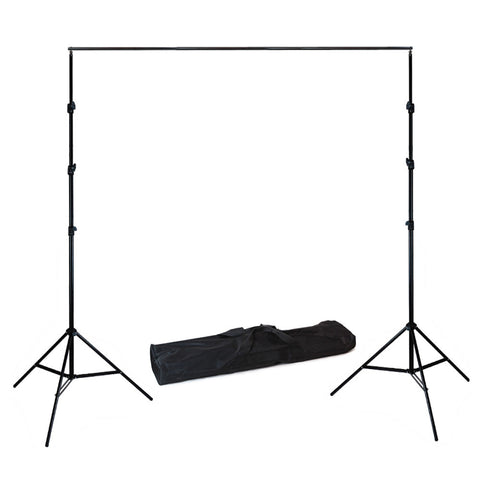 "86""x120"" Background Support System Heavy Duty Adjustable Steel Stands, Crossbar and Carry Bag by Loadstone Studio"