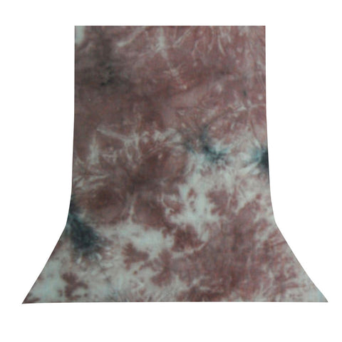 10' x 12' Ft. Chromakey Tie Dye Crushed Brown Hand Painted Muslin for Photography Background Lighting by Loadstone Studio