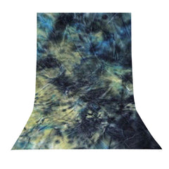 6' x 9' Ft. Chromakey Tie Dye Crushed Dark Green Hand Painted Muslin for Photography Background Lighting by Loadstone Studio