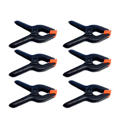 6 Piece Red Tip Clamp Set, Backdrop Solid Grip Clamps for Background, Reflector, Gobo, Scrim, Setup