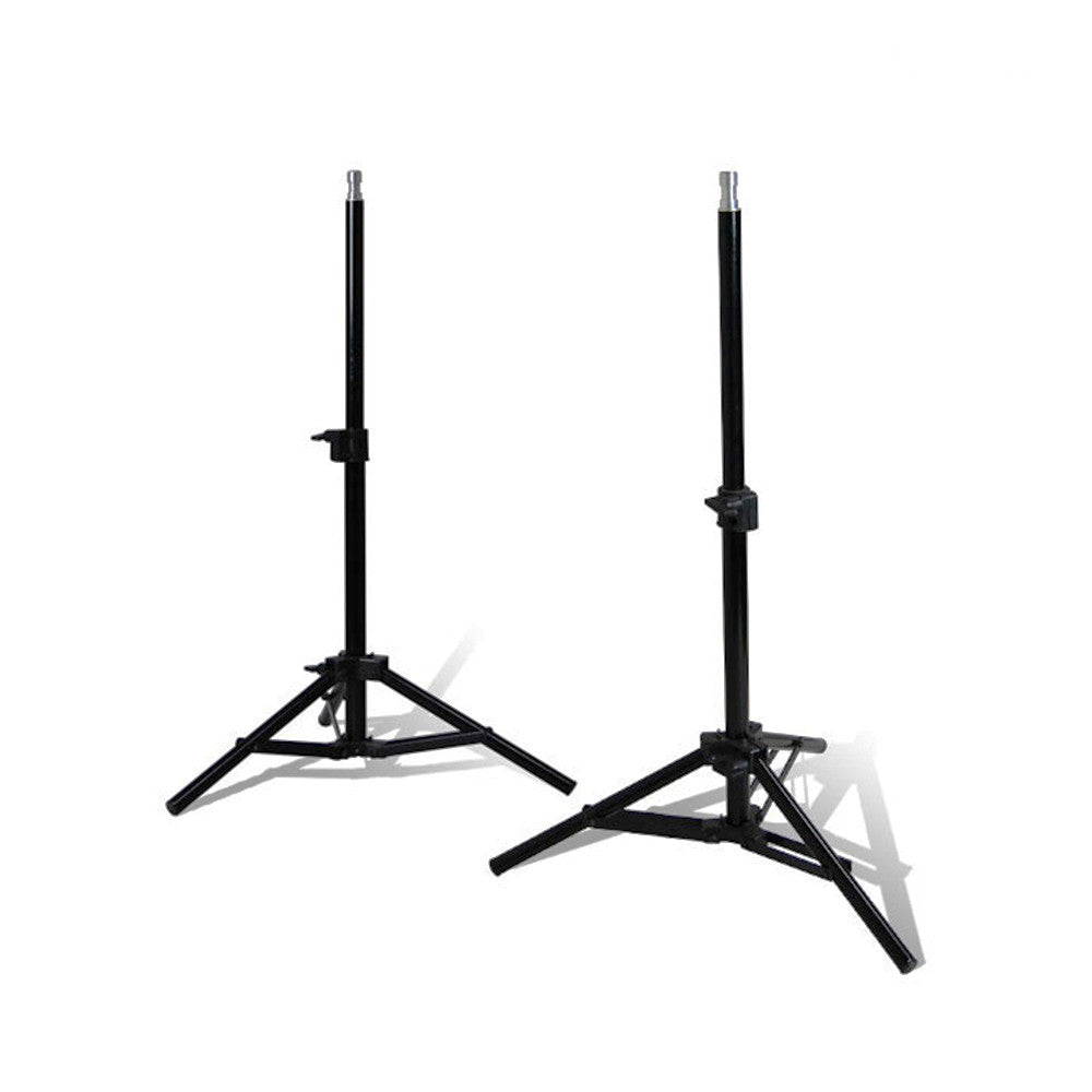 "Set of 2 Portable Convenient 28"" Photo Video Adjustable Height Lighting Equipment Stand Aluminum Alloy"