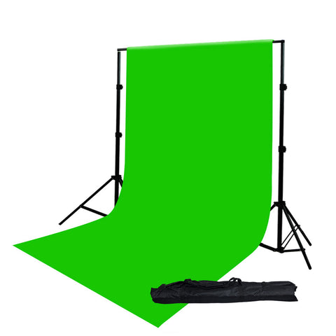 10' x 20' Foot Green Color Chromakey Seamless Muslin Backdrop with Background Support System Stand by Loadstone Studio