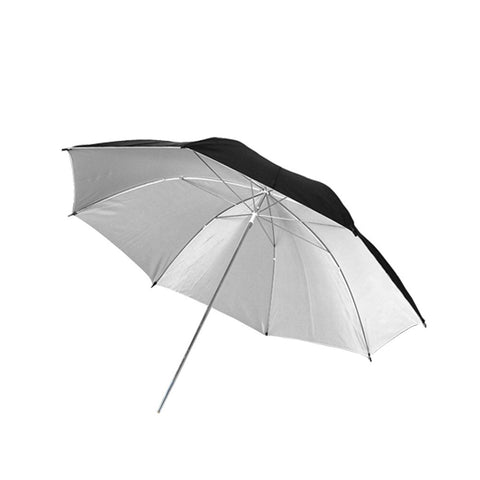 "40"" Inch Professional Black/White Reflective Umbrella with 8mm Shaft for Photography and Video Lighting"