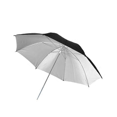"40"" Inch Black Exterior and White Interior Reflective Umbrella for Photography and Video Lighting"