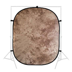 "60"" x 84"" Old Master Series Tie Dye Brown Collapsible Background Disc Panel for Background Lighting by Loadstone Studio"