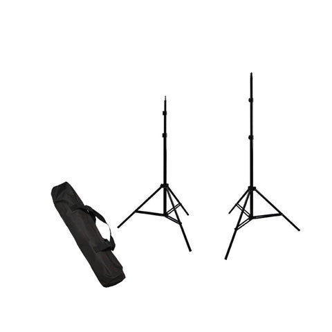 "Set of 2x 84"" Adjustable Height Light Stands with Tripod Design and Carry Bag for Photography Lighting"