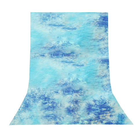 10 X 20ft Sky Blue Tie Dye Seamless 100% Cotton Muslin Photo Backdrop Background Hand Dyed Quality by Loadstone Studio