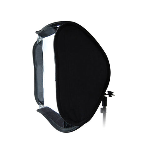 "20"" 50x50cm Portable Collapsible Professional Softbox Metal Hot Shoe Mount Flash Speedlite Nikon Canon"