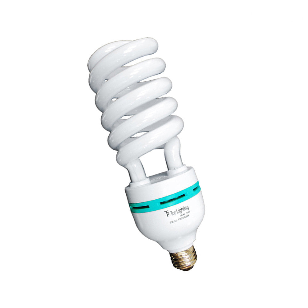 65W Full Spectrum Compact Fluorescent Lamp Continuous Light Spiral Bulb - 6500K Daylight by Loadstone Studio