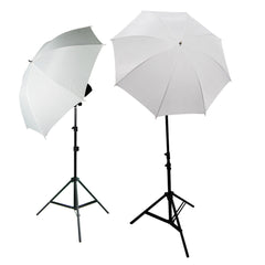 "6500K Continuous Lighting Kit with 33"" Shoot Thru Umbrella Light Modifier and Aluminum Alloy Light Stands by Loadstone Studio"