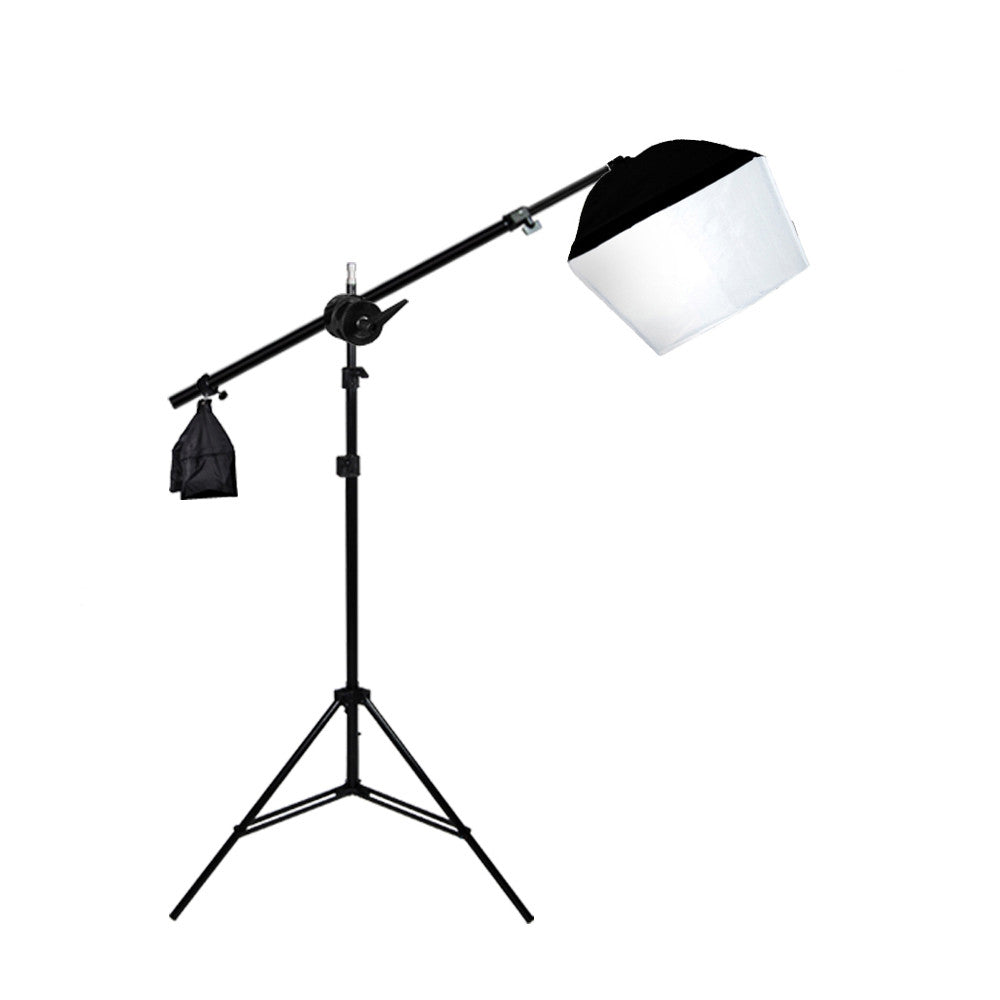 Photo Video Continuous Lighting Hair Light Kit with Aluminum Alloy Boom Stand, Sandbag, and Soft Box by Loadstone Studio