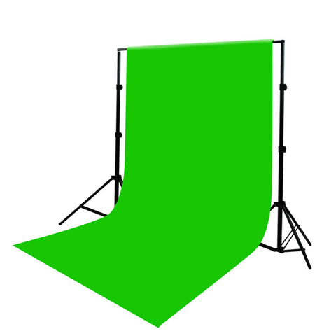 6'x9' Photo Video Green Chroma key Seamless Muslin Backdrop with Backdrop Support Stand System by Loadstone Studio