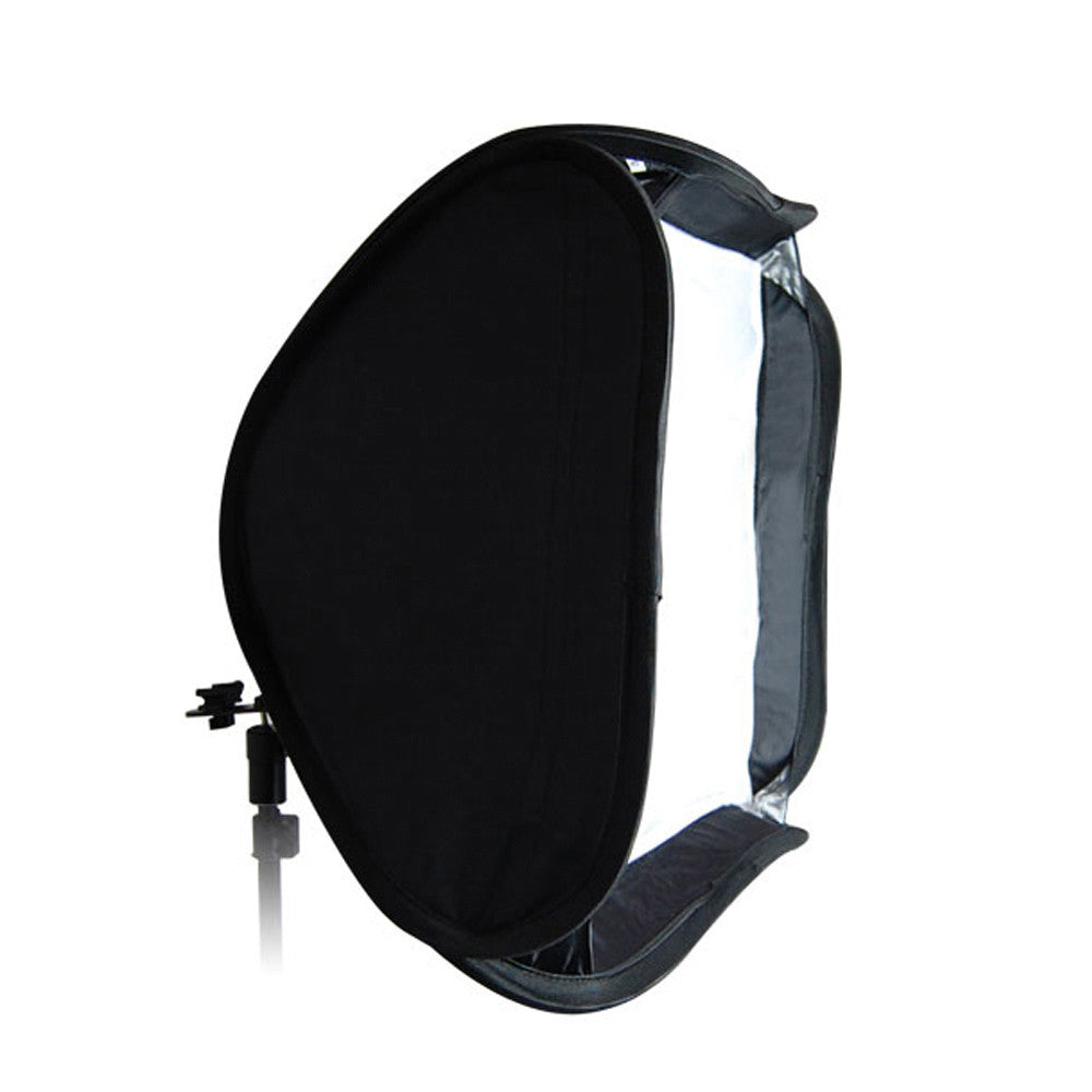 "20"" x 20"" Quick Setup Portable Softbox Silver Interior for Speedlite Flash with Metal Hot Shoe Mount Ring"