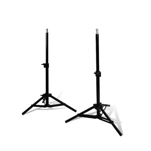 "Set of 2 Portable Convenient 28"" Adjustable Height Lighting Equipment Background Kicker Aluminum Stands"