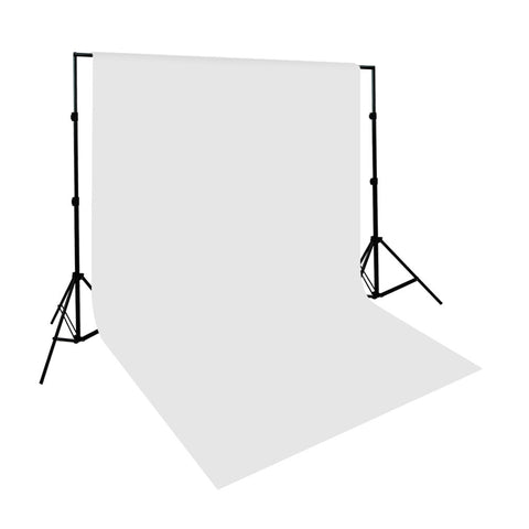 6 x 9' Ft. Chromakey White 100% Seamless Muslin with Background Support System for Photo Video Lighting by Loadstone Studio