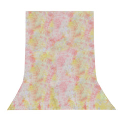 6' x 9' Ft. Chromakey Crushed Pink & Yellow Hand Painted Muslin for Photography Background Lighting by Loadstone Studio