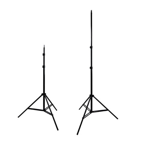 "Set of Two 30""-86"" Adjustable Height Light Stands with Tripod Design for Photography and Video Lighting"