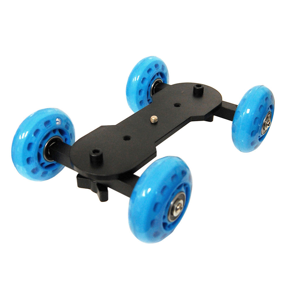 Roller Skate Tabletop Flex Dolly Video Stabilization Platform System for DSLR Cameras and Camcorders by Loadstone Studio