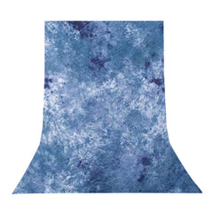 6' x 9' Hand-Dyed Tie-Dye Blue Crushed Design Muslin Backdrop for Photography Background Lighting by Loadstone Studio