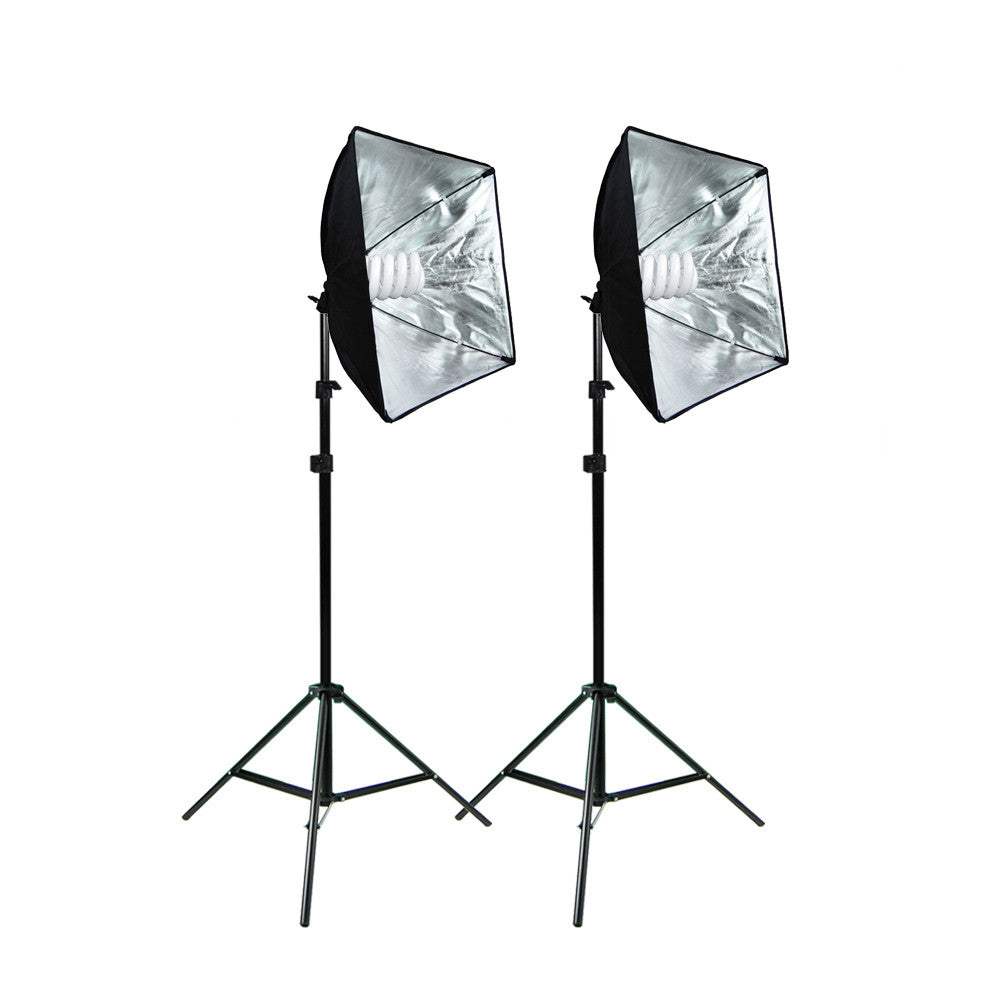Dual Softbox Continuous Lighting Kit with Aluminum Alloy Light Stands and Daylight 65W CFL Spiral Bulbs  sc 1 st  Loadstone Studio & Dual Softbox Continuous Lighting Kit with Aluminum Alloy Light ... azcodes.com