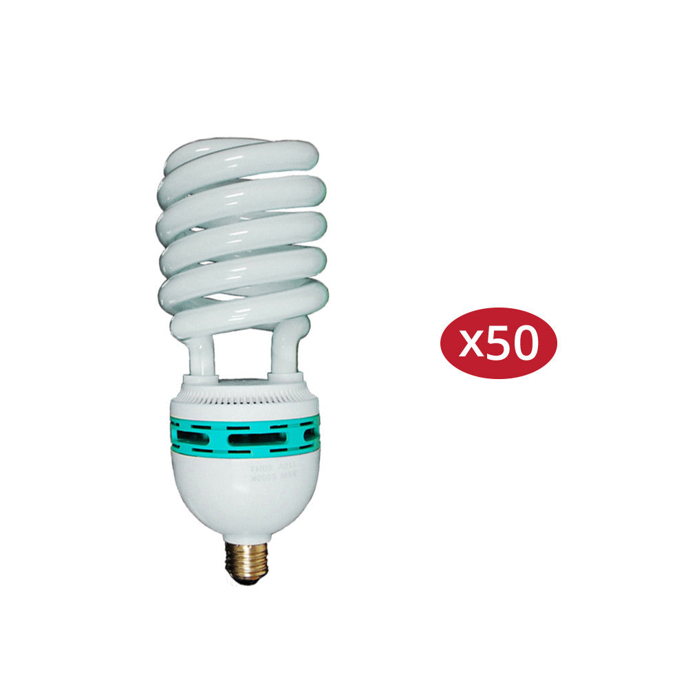Pure White 6500K Daylight Color Balanced 45W CFL Spiral Light Bulb for Photo and Video Lighting by Loadstone Studio