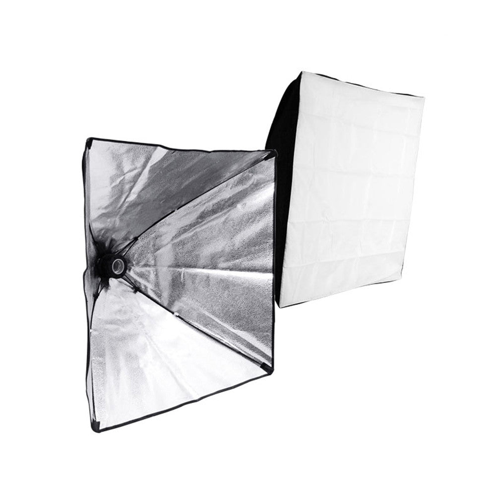 "Single Socket 24"" x 24"" Collapsible Softbox with On/Off Switch and Cord Pure Snow White Diffusion Cover"