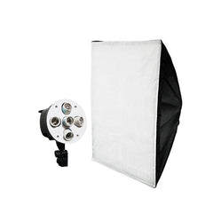 "20"" x 28"" Premium Softbox with Snow White Velcro Diffuser Cover and 5-Bulb Socket Bank Head for CFL Bulbs"
