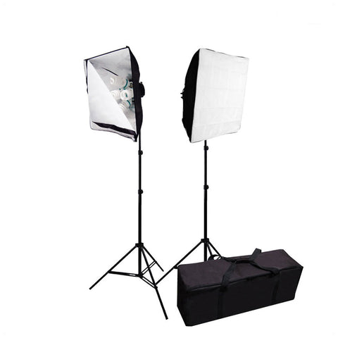 Softbox Light Stand Kit with Soft White Velcro Diffuser and Convenient Travel Case for Photo and Video by Loadstone Studio