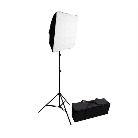 Softbox Lighting Kit with 5x 65W CFL Bulbs, 1x Light Stand & Carry Bag for Photography Lighting by Loadstone Studio
